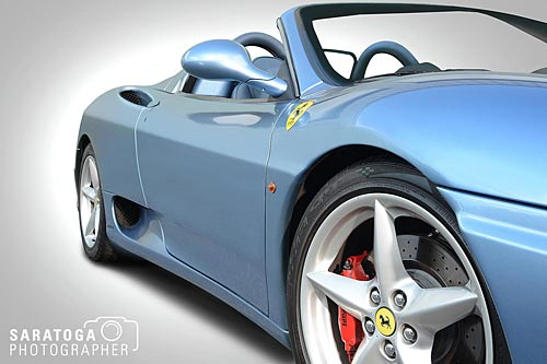 Blue Ferrari Sports Car