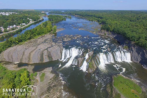 Aerial View Of Cohose Falls