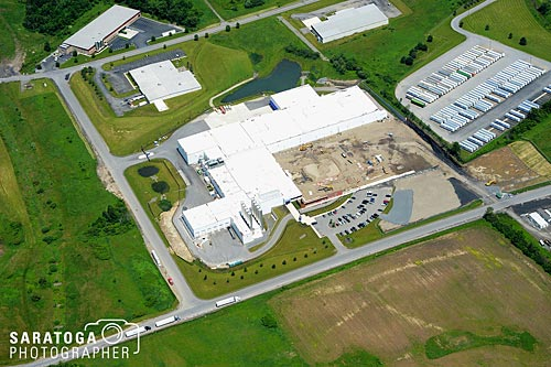 Aerial View Of Fulton County Industrial Building